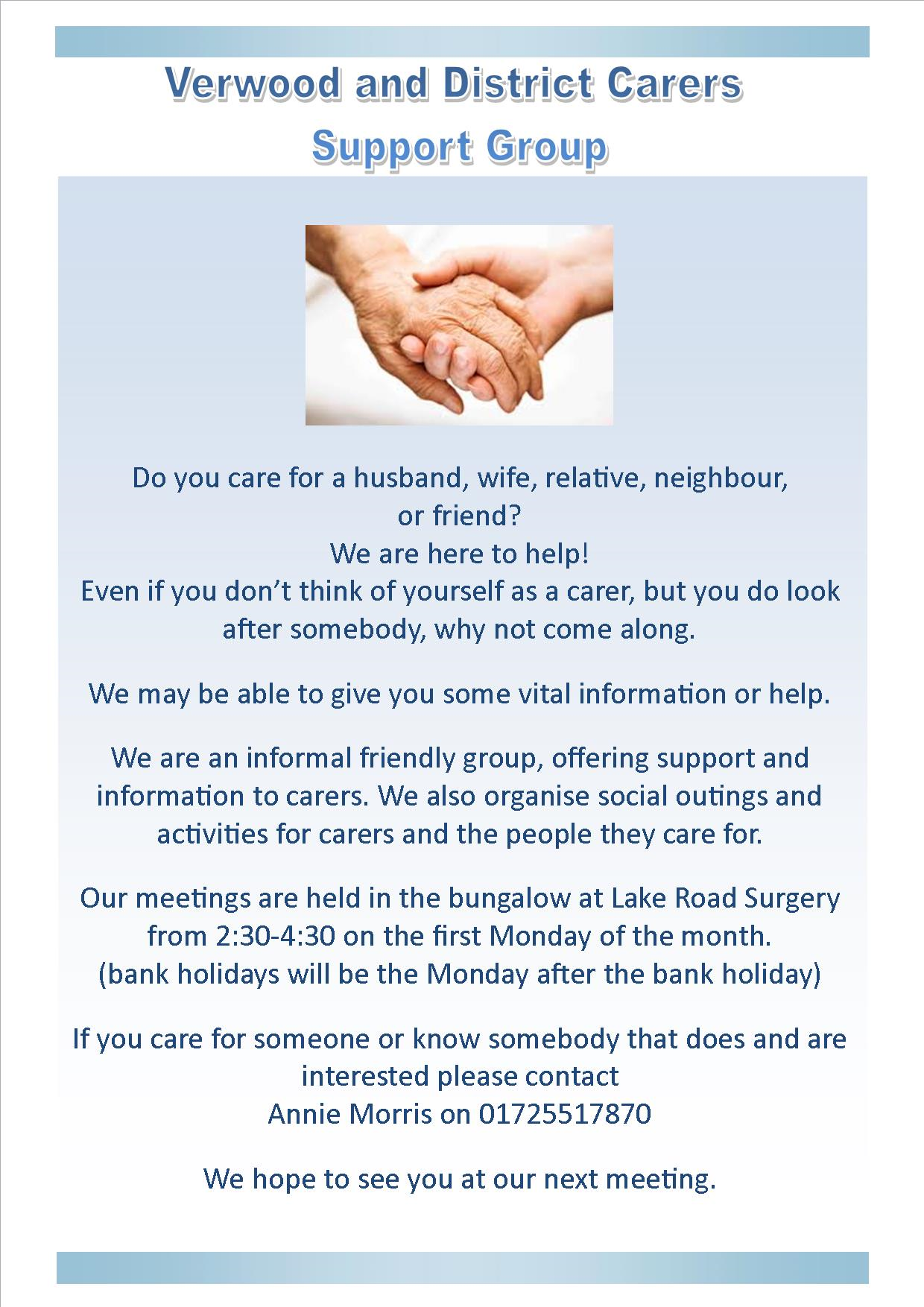Verwood and District Carers Support Group